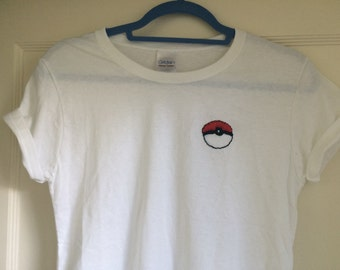 Pokeball Embroidered T-Shirt