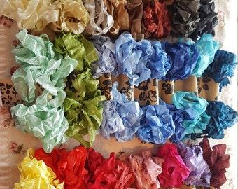 Vintage inspired crinkled seam binding in 25 colors!!