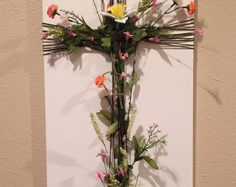 Flower cross 15x30