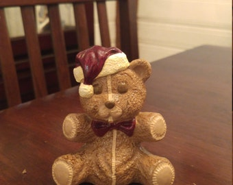 "Santa hat teddy bear (3.5"" tall)"