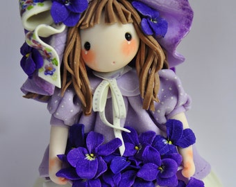 Violetta, cold porcelain doll, art doll, cold porcelain doll