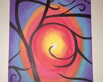 Sunset- Tree Silhouette