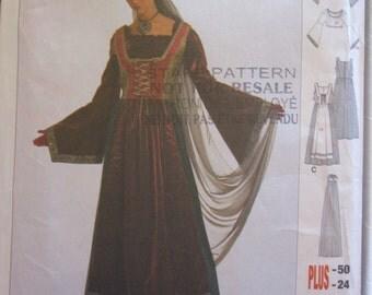 Boss BURDA 2509 medieval dress La châtelaine