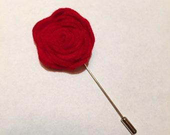 Red Felt Flower
