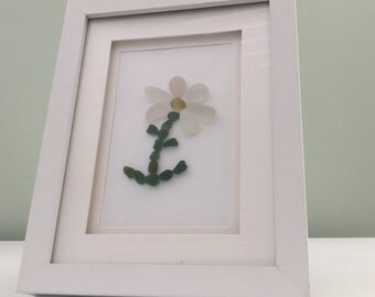 Beautiful Daisy - Genuine Sea Glass artwork, Seaham