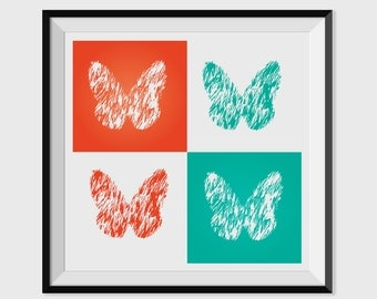 Butterfly-Colorful Printable Art Print/Poster