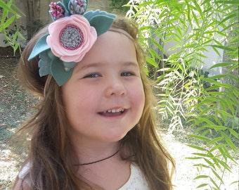Cherry Bloom // felt flower headband