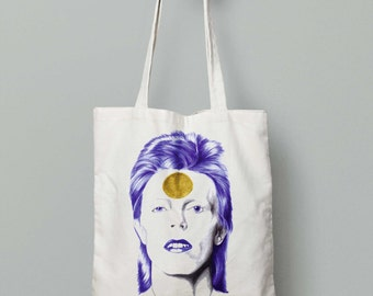 David Bowietote bag, canvas bag, cotton bag, shopping bag, ethic bag, organic,handbag, tote bag