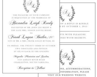 The Laurel Custom Invitation Design Suite