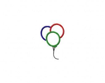 Balloon applique design, balloon embroidery design, birthday balloon embroidery, birthday embroidery design