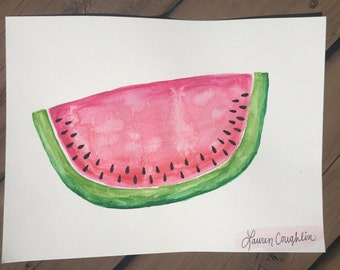 Juicy Watermelon - Watercolor