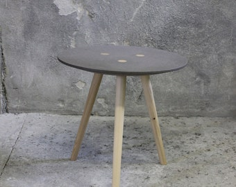 Large IDA - side table, occasional table, stool - grey ~ FIR