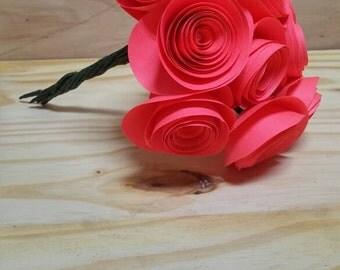 Pink paper rose bouquet