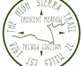 The High Sierra Trail Sticker