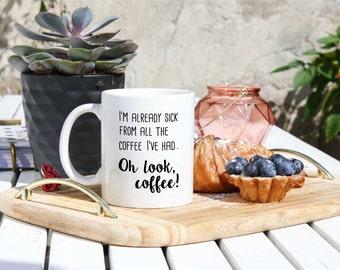 Funny Coffee Mug For Coffee Addict - Coffee Lover Mug - Oh Look Coffee - Mug Store - Funny Coffee Cup - Gift For Her - The Coffee Mug