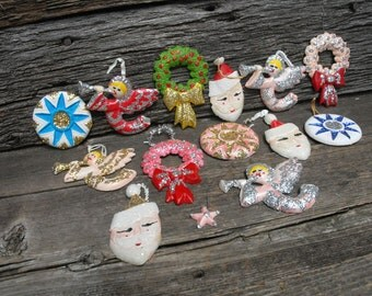 Handmade Vintage Christmas ornaments,vintage Christmas ornaments
