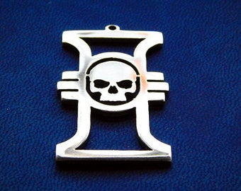 Inquisition insignia Warhammer 40k necklace or keychain stainless steel / insignia pendant / Warhammer cosplay / Warhammer 40000 inquisition