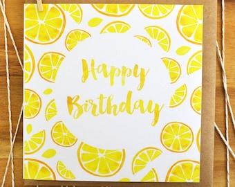 Citrus Happy Birthday Greeting Card