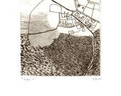 map 1 · original monotype on paper · handmade and signed · unique print