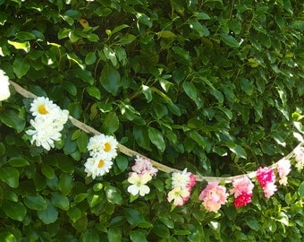 007. A Burst of Pippa - artificial flower bunting