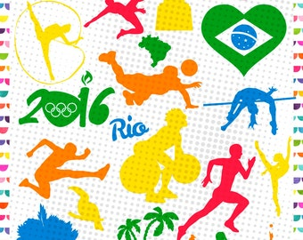 Olympic Files - Olympic Rings SVG - Cutting Files Svg Png Jpg Eps Dxf – sports - Rio 2016 Olympic - Olympics sport design - Brazil 2016