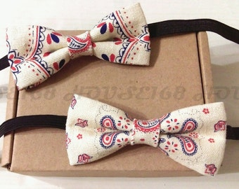 Paisley Bow Tie Kids Bow Tie Children Bow Tie Boys Bow Tie Wedding Bow Tie, Bowtie, Pre-tied and Adjustable