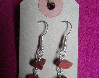 Handmade Red Jasper earrings *healing/calming*