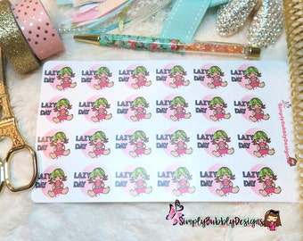 Planner Stickers - Lazy Day Kawaii Stickers 002