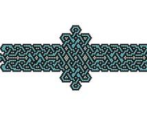 Celtic Knotwork Bracelet peyote pattern #1