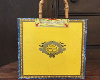 Bamboo Handled Cigar Box Purse