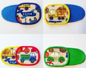 Eye patches with transport