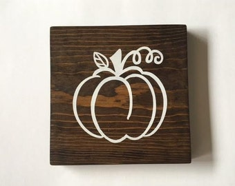Pumpkin Fall Wood Sign