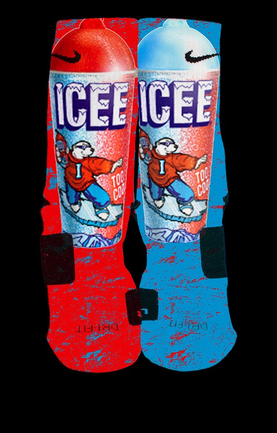 popular icee custom nike elite socks by kristinannboutique