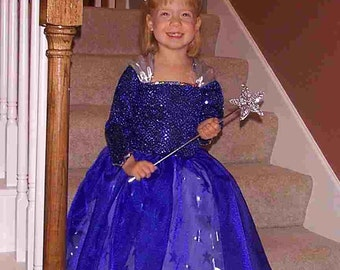 Custom blue fairy costume