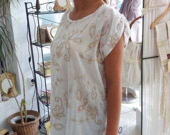 Cotton summer tunic