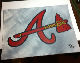 Atlanta Braves Baseball Canvas Painting