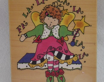 Christmas Fairy Rubber Stamp by Stampington & Co.  1999 Chris Johnson Design.