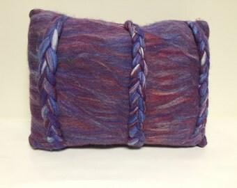 Purple braid pillow