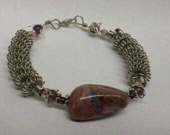 Stone Coil Loop Bracelet