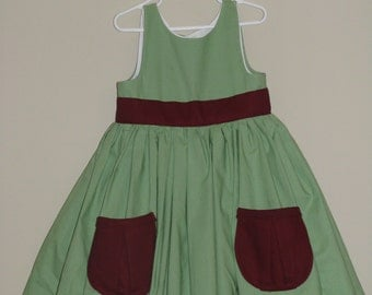 Sweetheart Dress Mint And Wine With Liner Dress