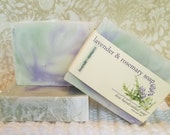 Lavender & Rosemary Soap, Natural Soap, Handcrafted Soap, Natural Bar Soap, Essential Oil Soap