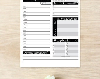 Daily Planner Printable - Printable Daily Planner Inserts - Daily Planner Pages - Daily Planner Binder - Daily To Do List - Daily Routine