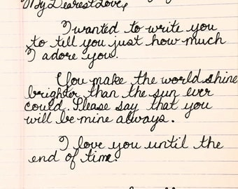 Handwritten Letter (up to 5 pages)