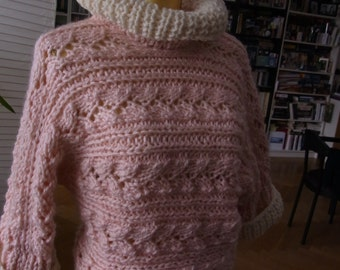 Sweater super thick yarn, size 36-40 (S-m)