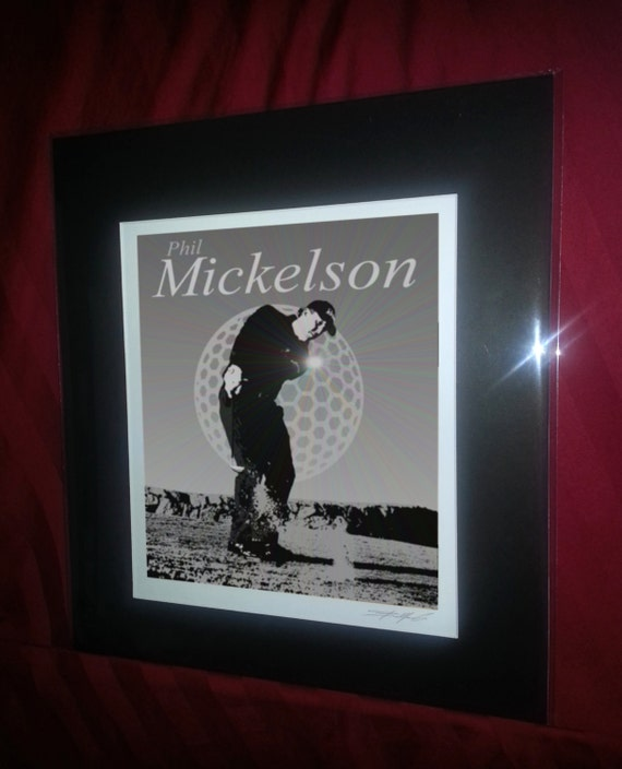 Phil Mickelson Matted Golf Art Print Free Shipping U S
