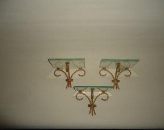 Italian Gilt  Wall Shelves Set Three (3)