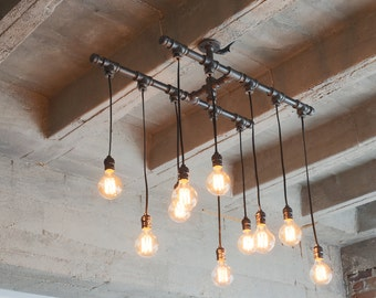 Industrial Iron Chandelier