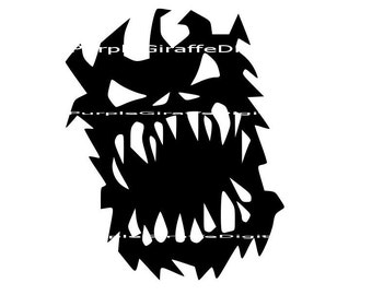 Monster SVG DXF