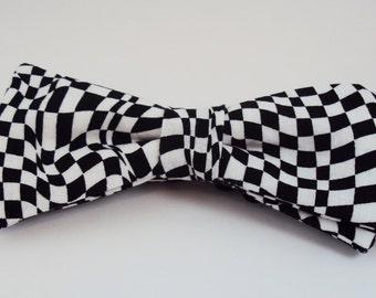 Checker Illusion Bow Tie, Head Band, Dog/Puppy Bow