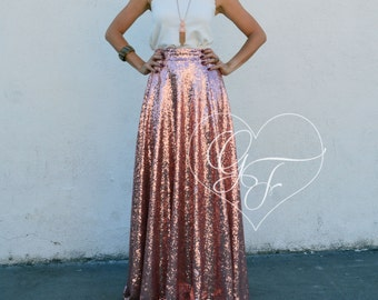Sequin Maxi Skirt - Full 3/4 Circle